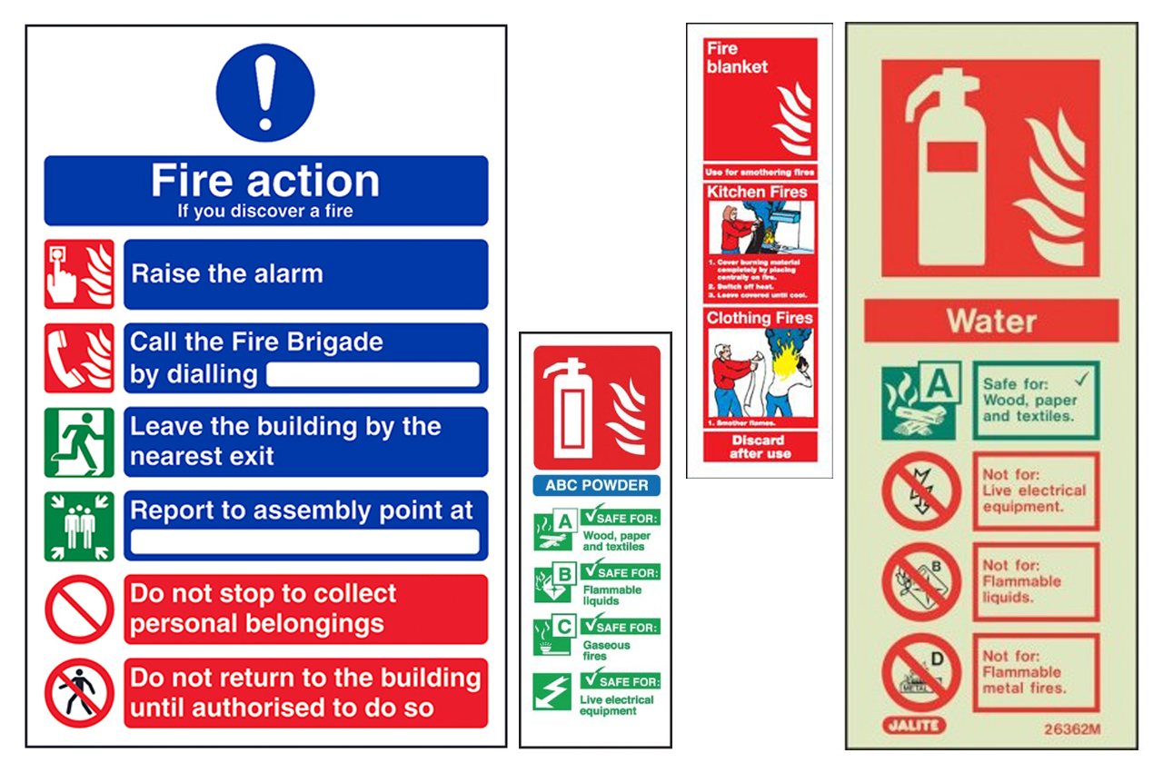 Portrait Fire Safety Signs